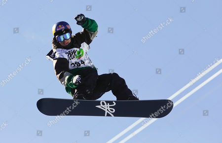 Louie Vito Louie Vito competes during the snowboarding superpipe final at the Dew Tour iON Mountain Championships, in Breckenridge, Colo