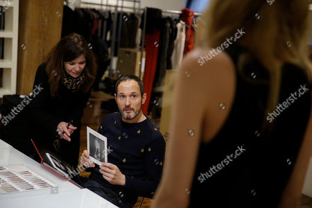 Josep Font Josep Font, creative director of DelPozo, center, works with his casting director Esther Garcia during a model casting in New York