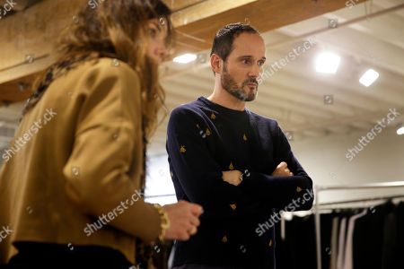 Josep Font Josep Font, creative director of DelPozo, right, talks with his casting director Esther Garcia during a model casting in New York