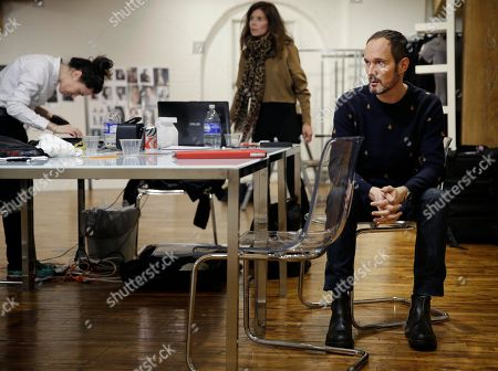 Josep Font Josep Font, creative director of DelPozo, right, works with his team during a model casting in New York