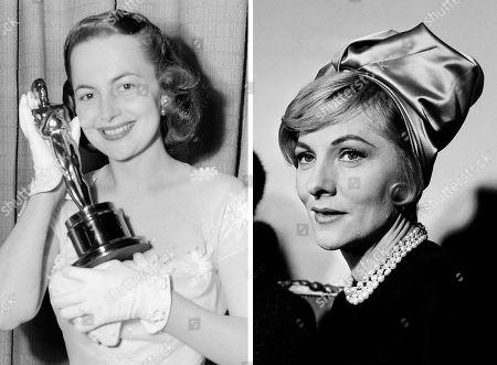 "S shows actress Joan Fontaine, right, in New York, on c, while her sister Olivia de Havilland, left, holding the Oscar she won for best actress at the Academy Awards in Hollywood on March 23, 1950. In rare public remarks about her sister and fellow Oscar-winning actress, Olivia de Havilland mourned the loss of Joan Fontaine, with whom de Havilland reportedly feuded for much of their lives. De Havilland on issued a statement to The Associated Press saying she was ""shocked and saddened"" by the news and that she was grateful for ""the many kind expressions of sympathies"