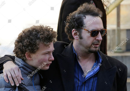 Philip Seymour Hoffman, David Bar Katz David Bar Katz, right, a friend of actor Philip Seymour Hoffman, arrives for the actor's funeral at the Church of St. Ignatius Loyola, in New York. Hoffman, 46, was found dead Sunday of an apparent heroin overdose