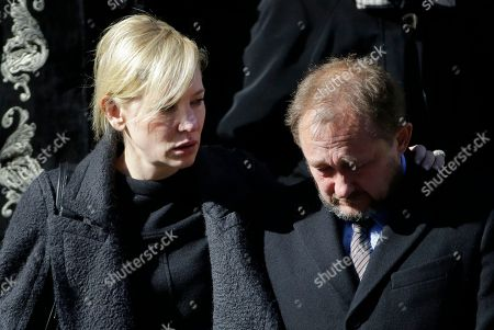 Philip Seymour Hoffman Actress Cate Blanchett and her husband Andrew Upton leave the Church of St. Ignatius Loyola following the funeral for actor Philip Seymour Hoffman, in New York. Hoffman died Sunday