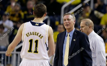 Editorial image of Holy Cross Michigan Basketball, Ann Arbor, USA