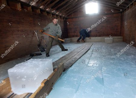 Editorial image of Ice Harvest, Holderness, USA