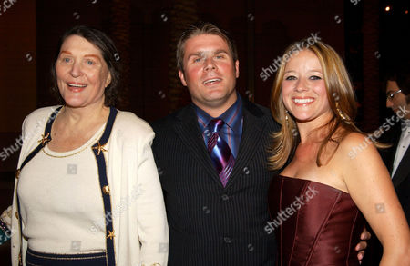 Majel Roddenberry, son Rod and guest
