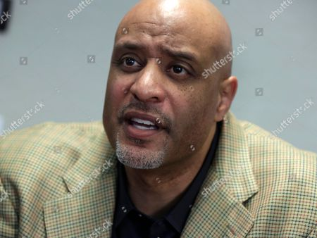 Stock Photo of Tony Clark New baseball union head Tony Clark is interviewed at the organization's headquarters, in New York, . Clark says players won't agree to terminating contracts as part of discipline for drug violations. Clark took over as the union's executive director following the death of Michael Weiner in November