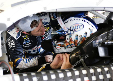 Brad Keselowski, Rusty Wallace Brad Keselowski, left, helps NASCAR Hall of Famer Rusty Wallace adjust his helmet before going out on the track during Sprint Cup auto racing testing at Daytona International Speedway in Daytona Beach, Fla., . Wallace was driving Keselowski's car during testing