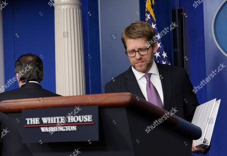 Jay Carney, Gene Sperling White House press secretary Jay Carney, right, heads to the podium after White House National Economic Council Chairman Gene Sperling, left, steps down following his participation in the daily briefing at the White House in Washington