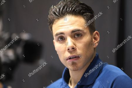 Apolo Anton Ohno Apolo Anton Ohno is shown working from the broadcast booth before the women's 1,500 meters during the U.S. Olympic short track trials, in Kearns, Utah