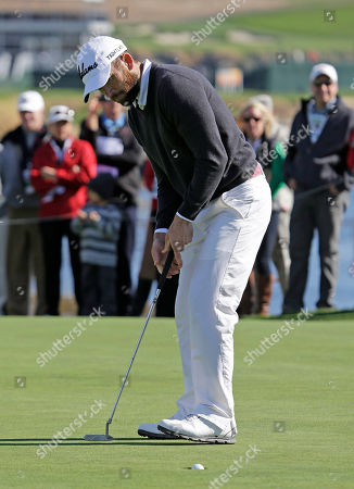 Lucas Black Actor Lucas Black sinks a putt worth $60,000 in charity on the 18th green of the Pebble Beach Golf Links during the celebrity shootout event of the AT&T Pebble Beach Pro-Am golf tournament, in Pebble Beach, Calif. Black and actor Andy Garcia won the event