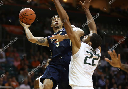 Editorial photo of Pittsburgh Miami Basketball, Coral Gables, USA