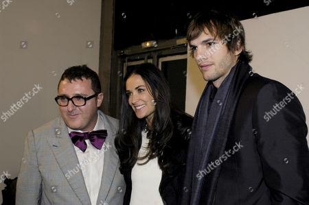 Albert Elbaz, Demi Moore and Ashton Kutcher