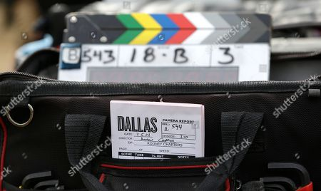 Stock Picture of A production catalog notebook is seen before a crew films a scene for the television series Dallas at Southfork Ranch in Parker, Texas. (AP Photo/LM Otero) The third season of the reboot of the classic series, which premieres Monday, Feb. 24 on TNT, marks the first full season without Larry Hagman, who died of complications from cancer in November 2012 at age 81
