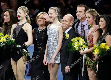 Peggy Fleming, Gracie Gold, Dorothy Hamill, Polina Edmunds, Scott Hamilton, Brian Boitano, Ashley Wagner, Kristi Yamaguchi Figure skaters, from the left, Peggy Fleming, Gracie Gold, Dorothy Hamill, Polina Edmunds, Scott Hamilton, Brian Boitano, Ashley Wagner, and Kristi Yamaguchi, stand together following the U.S. Figure Skating Championships in Boston