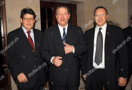 Gary Smith, Al Gore and Norman Pearlstine