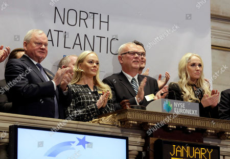 Cecilie Fredriksen, Alf Ragnar Lovdal, John Fredriksen, Kathrine Fredriksen North Atlantic Drilling CEO Alf Ragnar Lovdal, second from right, is joined in applause by company Chairman John Fredriksen, Kathrine Fredriksen, and Cecilie Fredriksen, right, as he rings the New York Stock Exchange opening bell, to mark the Norwegian company's IPO