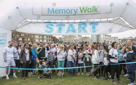 Alison Moyet at the start of the Memory Walk