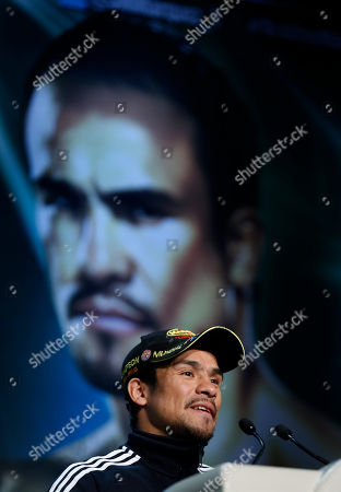 Juan Manuel Marquez Boxer Juan Manuel Marquez speaks during a news conference, in Las Vegas. Marquez is scheduled to fight Timothy Bradley for Bradley's WBO welterweight title on Saturday
