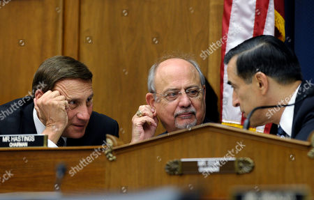 John Mica, Gerry Connolly, Darrell Issa House Oversight and Government Reform Committee Chairman Rep. Darrell Issa, R-Calif., right. talks with House Natural Resources Committee Chairman Rep. Doc Hastings, R-Wash., center, and Rep. John Mica, R-Fla., left, during a joint hearing with the House Natural Resources Committee and the House Oversight and Government Reform Committee on Capitol Hill in Washington, . The hearing was looking at who was to blame for the closure of national parks because of the current government shutdown