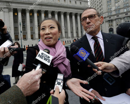 "Jia ""Jenny"" Hou, Gerald Lefcourt Jia ""Jenny"" Hou, the former campaign treasurer for New York City Comptroller and mayoral aspirant John Liu, and her attorney Gerald Lefcourt, hold a news conference in New York's Foley Square, . Hou, 27, was sentenced to ten months in prison after her conviction for attempted wire fraud, obstructing justice and making false statements"