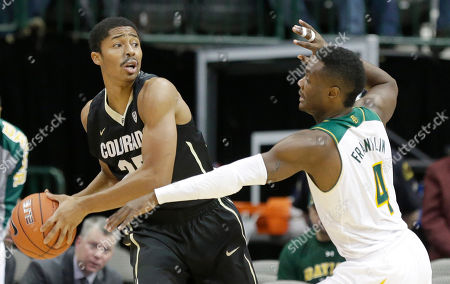 Spencer Dinwiddie, Gary Franklin Colorado guard Spencer Dinwiddie (25) looks to pass as Baylor guard Gary Franklin (4) reaches in during the first half of an NCAA college basketball game in Dallas