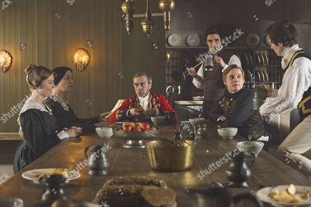 Nell Hudson as Skerrett, Eve Myles as Mrs Jenkins, Adrian Schiller as Penge, Ferdinand Kingsley as Francatelli and Basil Eidenbenz as Lohlein