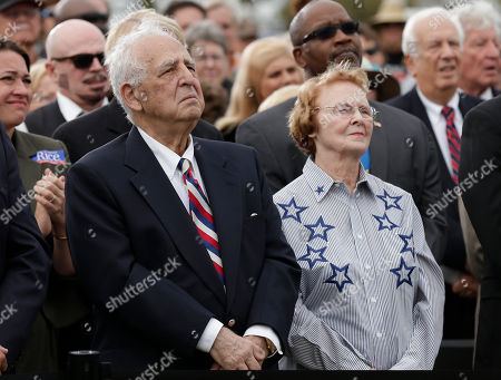 Stock Image of Charlie Crist, Nancy Crist, Charles Crist Former Republican Florida Gov. Charlie Crist's parents Charles Sr. and Nancy during a campaign rally, in St. Petersburg, Fla. Crist announced that he is running again for governor, this time as a Democrat