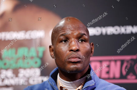 Bernard Hopkins Bernard Hopkins, 48, listens to the introductions at the start of a news conference, in New York, in advance of his International Boxing Federation Light Heavyweight world championship fight, against Karo Murat of Germany, Saturday, Oct. 26 in Atlantic City, N.J