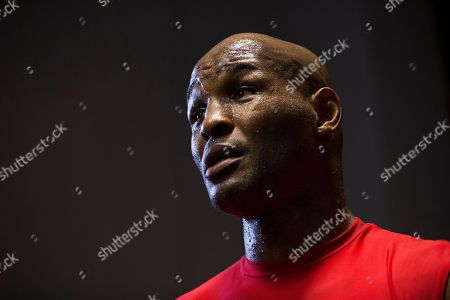 Bernard Hopkins Boxer Bernard Hopkins speaks to members of the press during a media workout, in Philadelphia. Hopkins is scheduled to fight Karo Murat at Boardwalk Hall in Atlantic City, N.J., on Oct. 26