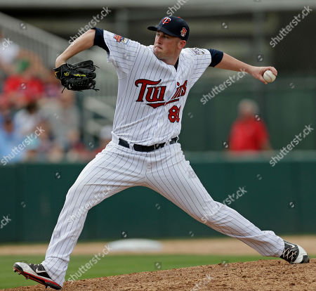 Stock Image of Matt Hoffman Boston Red Sox pitcher Matt Hoffman pitches in the ninth inning of an exhibition baseball game against the Boston Red Sox in Fort Myers, Fla., . The Red Sox won 4-0