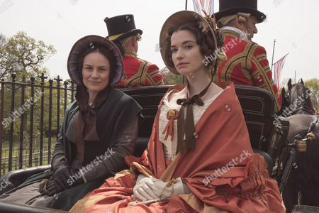 Stock Image of Daniela Holtz as Baroness Lehzen and Margaret Clunie as Duchess Harriet Sutherland