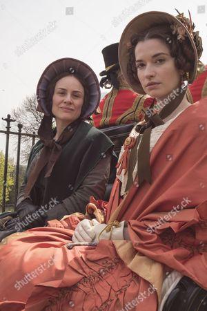 Daniela Holtz as Baroness Lehzen and Margaret Clunie as Duchess Harriet Sutherland