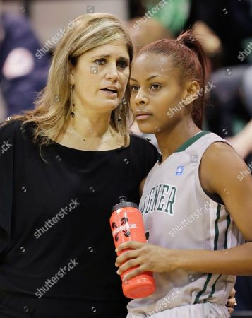Jasmine Nwajei Lisa Cermignano Wagner head coach Lisa Cermignano, left, talks with Jasmine Nwajei in the first half of an NCAA college basketball game at Wagner College in the Staten Island borough of New York