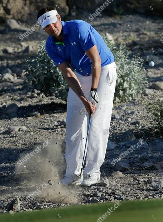 Jeff Overton Jeff Overton hits out of the hazard onto the 15th green in the third round of the Shriners Hospitals for Children Open golf tournament, in Las Vegas