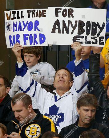 Editorial image of Maple Leafs Bruins Hockey, Boston, USA