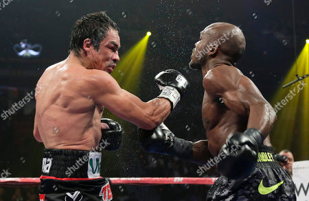 Juan Manuel Marquez, Timothy Bradley Juan Manuel Marquez, left, lands a punch against Timothy Bradley in the 11th round during a WBO welterweight title fight, in Las Vegas. Bradley won by split decision