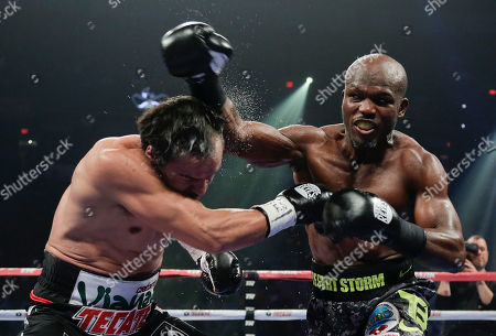 Juan Manuel Marquez, Timothy Bradley Timothy Bradley, right, throws a jab against Juan Manuel Marquez in the fifth round during a WBO welterweight title fight, in Las Vegas. Bradley won by split decision. Bradley won by split decision