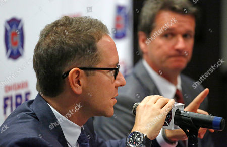 Stock Picture of Andrew Hauptman Frank Yallop Chicago Fire owner Andrew Hauptman, left, introduces Frank Yallop as the new head coach and director of soccer of the MLS soccer club during a news conference, in Chicago