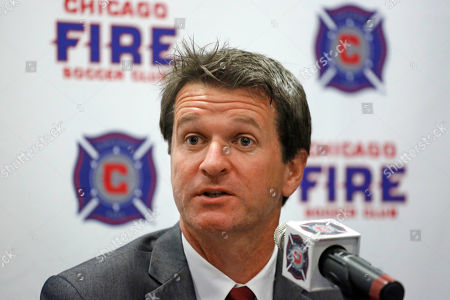 Frank Yallop Chicago Fire Soccer Club new head coach Frank Yallop answers questions at a news conference after being introduced by owner Andrew Hauptman, in Chicago
