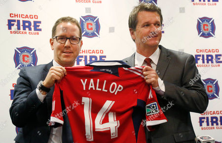 Frank Yallop, Adnrew Hauptman Chicago Fire soccer club owner Andrew Hauptman, left, introduces Frank Yallop as the team's new head coach at a news conference, in Chicago