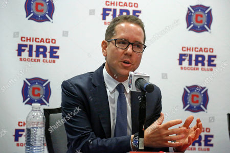 Adnrew Hauptman Chicago Fire Soccer Club owner Andrew Hauptman, speaks at a news conference after introducing Frank Yallop as the team's new head coach, in Chicago