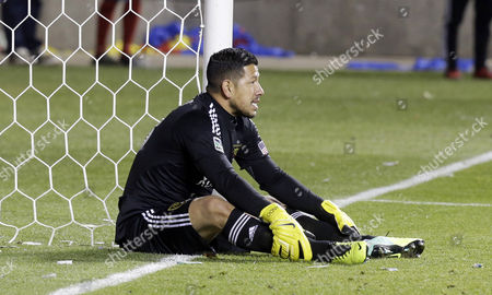 Nick Rimando Real Salt Lake goalie Nick Rimando looks up after being scored on by Portland Timbers' Frederic Piquionne in the second half during the first leg of the MLS Western Conference final, in Sandy, Utah. Real Salt Lake won 4-2