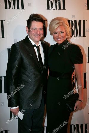 Stock Image of Jay DeMarcus, Allison DeMarcus Jay DeMarcus of the group Rascal Flatts and his wife, Allison, arrive at the BMI Country Awards, in Nashville, Tenn