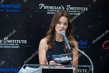 "Brooke Burke Brooke Burke, actress and host of ""Dancing with the Stars"" host, joined board certified plastic surgeons and breast oncologists in South Florida to kick off the second annual Breast Reconstruction Awareness (BRA) Day USA event, at Joe DiMaggio Hospital in Hollywood, Fla. Burke is a thyroid cancer survivor"