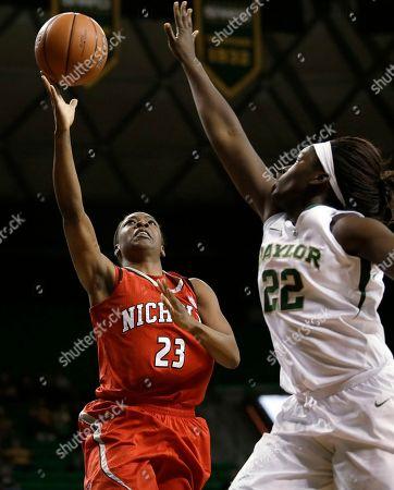 Editorial image of Nicholls St Baylor Basketball, Waco, USA