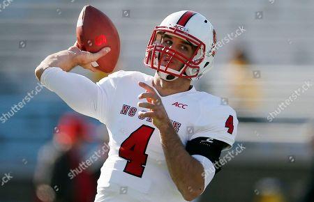 Pete Thomas North Carolina State quarterback Pete Thomas passes before an NCAA college football game against the Boston College in Boston