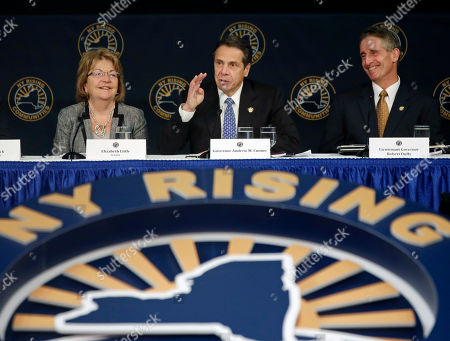 Andrew Cuomo, Betty Little, Robert Duffy New York Gov. Andrew Cuomo, center, speaks during a NY Rising Community Reconstruction conference, in Albany, N.Y. Seated with Cuomo are Sen. Betty Little, R-Glens Falls, left, and Lt. Gov. Robert Duffy. More than 100 New York communities slammed by severe storms and massive flooding in the last two years, all seeking shares of $750 million in federal rebuilding aid, are also competing for $3 million bonus grants