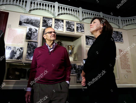Stock Image of Joe Torre, Ali Torre Former New York Yankees manager Joe Torre and wife Ali tour a Babe Ruth exhibit during his orientation visit at the Baseball Hall of Fame, in Cooperstown, N.Y. Torre will be inducted to the hall in July