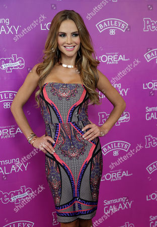 Ximena Cordoba Weather reporter Ximena Cordoba poses on the red carpet before a luncheon hosted by People en Espanol magazine recognizing the top 25 Hispanic women in the industry, in Coral Gables, Fla